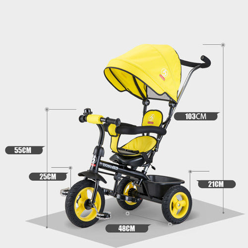 BOSO Trike children tricycle with rubber wheels tricycle bike bicycle baby cart
