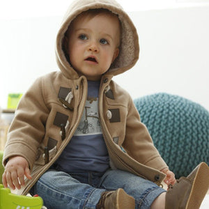 Baby Boys Jacket 2013 New Winter Clothes 2 Color Outerwear Coat Cotton Thick Kids Clothes Children Clothing With Hooded