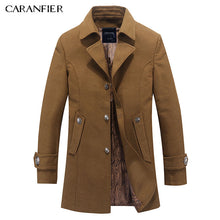 Load image into Gallery viewer, Men Coat Top Wool Jackets High Quality Male Woolen Coats Long Edition Casual Jackets coat winter Warm Overcoats