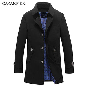 Men Coat Top Wool Jackets High Quality Male Woolen Coats Long Edition Casual Jackets coat winter Warm Overcoats