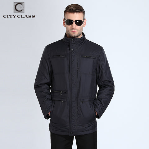New Mens Autumn Jackets And Coats Classic Casual Long Stand Collar Jacket Free Shipment Black Blue Autumn Top