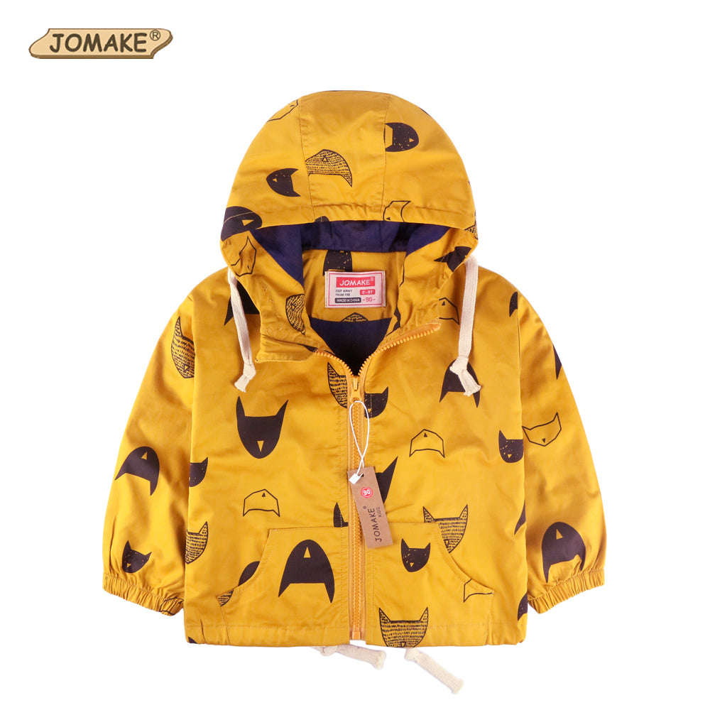 Cartoon Pattern Baby Boy Jacket Autumn New Fashion Brand