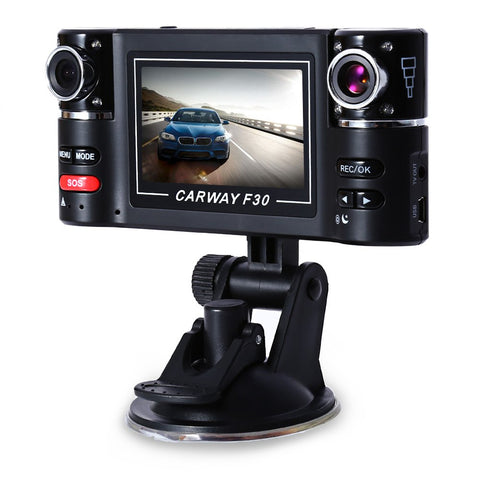 Dual Lens Car Camera Recorder Wide View 180 Degree Auto Car Camera DVR Driving Recorder Car Rear View Camera Dashcam For Car