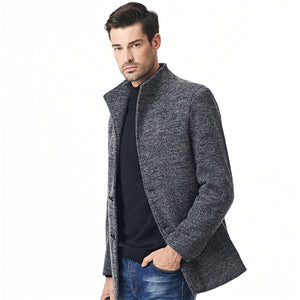 New Winter Men Jackets Breathable Warm Male Overcoat Mens Coat Thickening Casual Windproof Large Size Solid