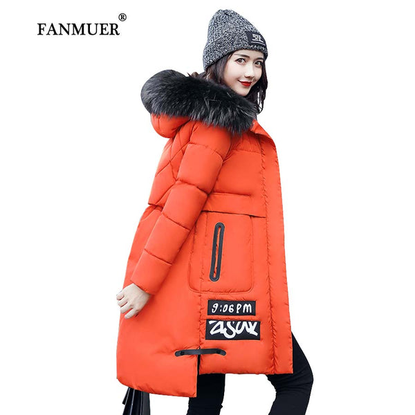 2017 Winter jacket women fur winter coat hooded womens clothing jackets long woman cotton parka jaqueta feminina invern