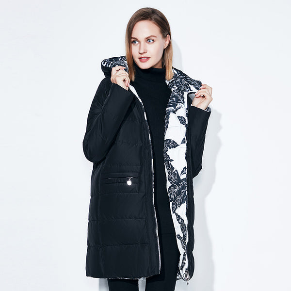 Fashionabl Winter Jacket Women Big Size 7xl Print Parka Both Side Can Wear Coats Cotton Pattern clothing warm jackets SnowClassi