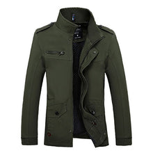 Load image into Gallery viewer, New Arrival Men's Fashion Casual Spring Autumn Jacket Cotton Stand Collar Coat 4 Colors M-3XL 82cy