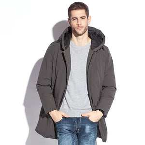Winter Jacket Mens Down Coat Male Puffer Down Feather Long Hooded Warm Coats For Men Parkas Plus Size Black Jackets