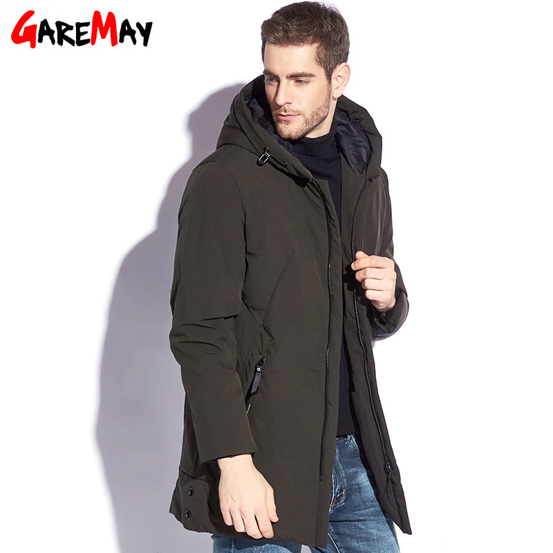 75573407784 ... Winter Jacket Mens Down Coat Male Puffer Down Feather Long Hooded Warm  Coats For Men Parkas ...