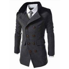 Load image into Gallery viewer, Fashion Men's Autumn Winter Coat Turn-down Collar Wool Blend