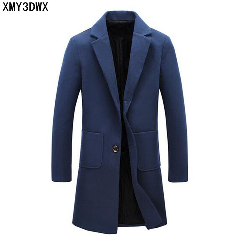 Men's Fashion Winter Windbreaker Jackets Man Overcoat Male Skinny Trench Coat Long Trench Coats for men
