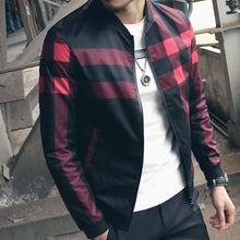 Load image into Gallery viewer, Hotsale Plaid Jacket Men Bomber Jacket Fashion Slim Mens jackets and Coats Chaquetas Hombres Jaquetas