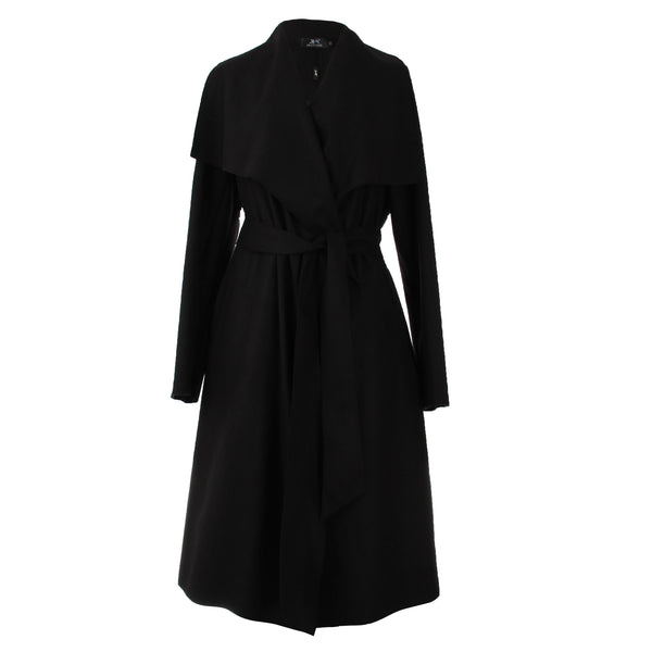 2017 New Autumn High Fashion Women's Wool Blend Trench Coat Casual Long Outerwear Loose Clothing for lady
