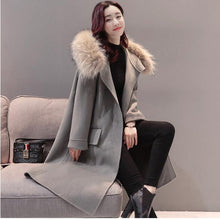 Load image into Gallery viewer, Korean Edition 2017 Autumn Winter Fashion Women New Coat Medium Long High Quality Slim Students Are Big Coat Women