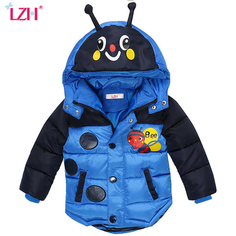 Winter Jacket For Boys Bees Hooded Down Jacket Kids Warm Outerwear Children Clothes Infant Boys Coat