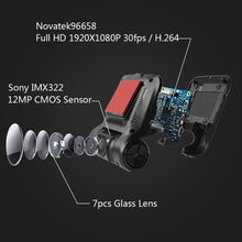 "Load image into Gallery viewer, LeadEdge H245 Dash Cam Novatek 96658 Sony IMX322 WiFi 2.45"" IPS LCD 1080P night vision Car DVR camera Registrator DVRS Dashcam"