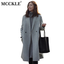 Load image into Gallery viewer, Women Autumn Winter Coats Jackets warm wool blends vintage solid Oversized High Quality Winter Long Coat Manteau Femme