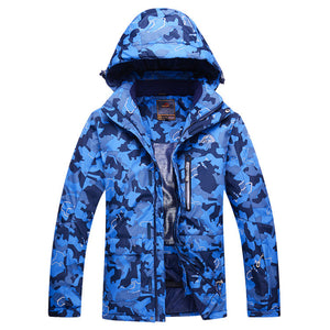 MEN Camouflage Snow Jackets skiing coat Outdoor snowboarding clothing 10K waterproof & windproof winter -30 dress high quality