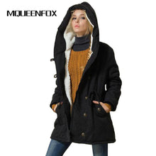 Load image into Gallery viewer, MQUEENFOX 2017 New Plus Size Winer COat Women Winter Jacket Cotton Padded Female Long Section Cashmere Coat Winter Jackets 4XL
