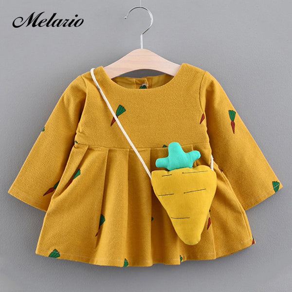 Melario Baby Dresses 2017Brand Baby girls clothes princess girls dress Ball of yarn Kids Clothes Children Party princess dresses