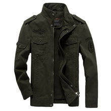 Load image into Gallery viewer, Men Jacket Winter Military Army bomber jackets jaqueta masculina plus size 6XL coat mens denim jacket for aeronautica militare