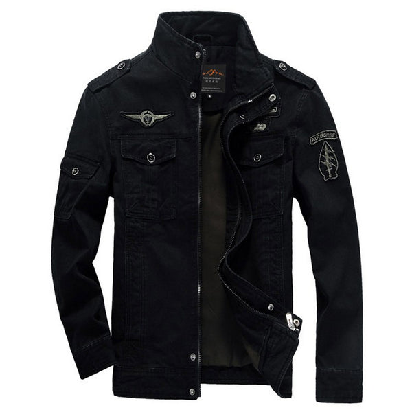 Men Jacket Winter Military Army bomber jackets jaqueta masculina plus size 6XL coat mens denim jacket for aeronautica militare