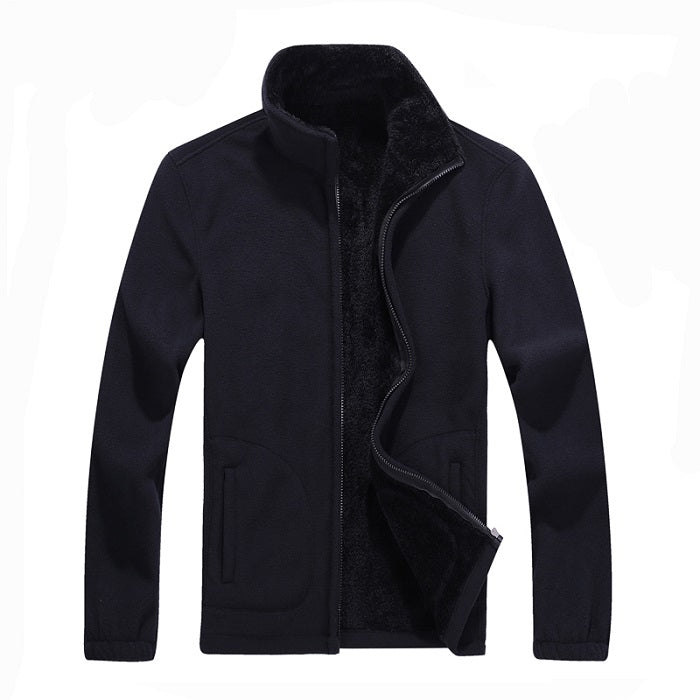 New Mens Softshell Fleece Casual Jackets Men Warm Sweatshirt Thermal Coats Solid Thickened Brand Clothing