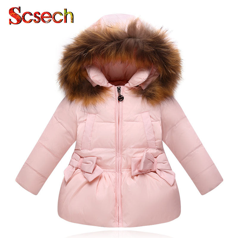 98ae327d4 New Fashion Baby Girls Jackets Bow Tie Autumn Winter Jacket Kids ...