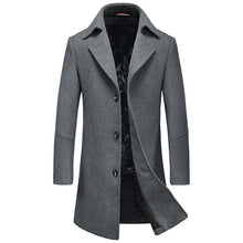 Load image into Gallery viewer, New Fashion Brand-Clothing Jacket Wool Coat Men Big Pocket Long Peacoat Business Casual Slim Fit Wool & Blends Winter Men Coat