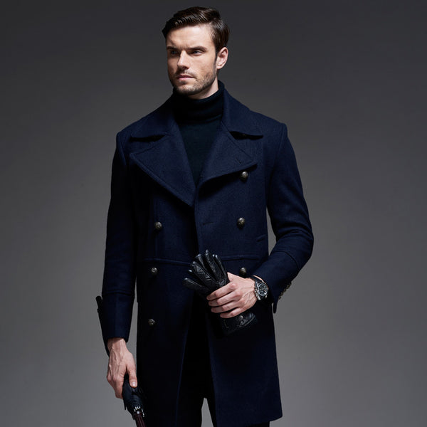 New Man Long trench coat wool coat Winter Men's wool Coat mens overcoat men's coats male clothing,M-3XL