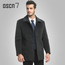 Load image into Gallery viewer, Wool Winter Jacket Men 2017 Solid Warm Mens Cashmere Coat Plus Size Casual Casaco Masculino Leisure Men Coat