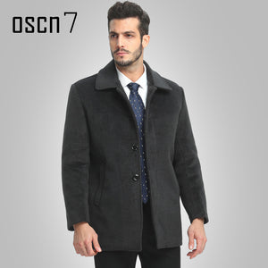 Wool Winter Jacket Men 2017 Solid Warm Mens Cashmere Coat Plus Size Casual Casaco Masculino Leisure Men Coat