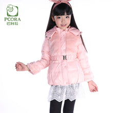 Load image into Gallery viewer, Winter Jacket for Girls Winter Coats Pink/Khaki White Duck Down Parkas Girls Outwear Artificial Fur Winter Jacket Kids
