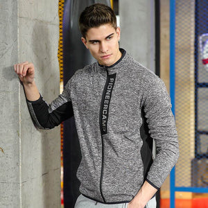 New jacket coat men brand clothing fashion zipper outerwear jacket men top quality stretch coat male AJK705085