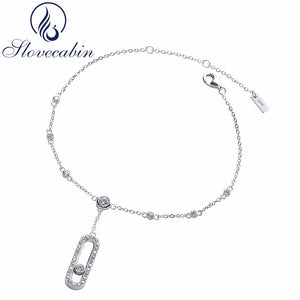 Slovecabin 925 Sterling Silver Adjustable Foot Chain Jewelry