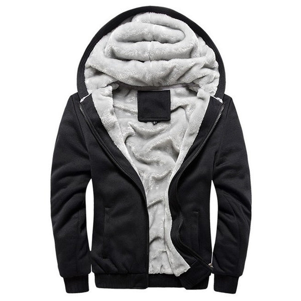 USA SIZE 2017 Men Winter Autumn Blank Pattern European Fashion Bomber Mens Vintage Thick Fleece Jacket Men Winter Jackets Coats