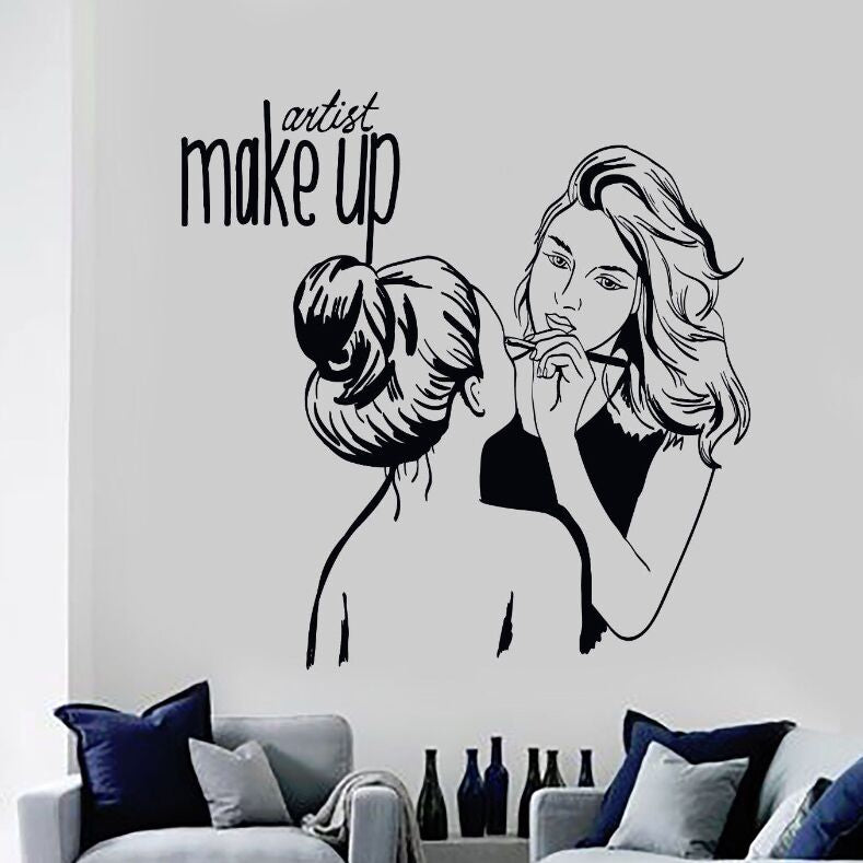 Vinyl Wall Decal Make Up Artist Wall Sticker