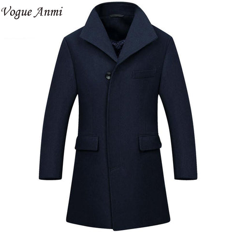 Vogue Anmi.New Man Long trench coat wool coat Winter peacoat Men's wool Coat mens overcoat men's coats male clothing,M-3XL, 1668