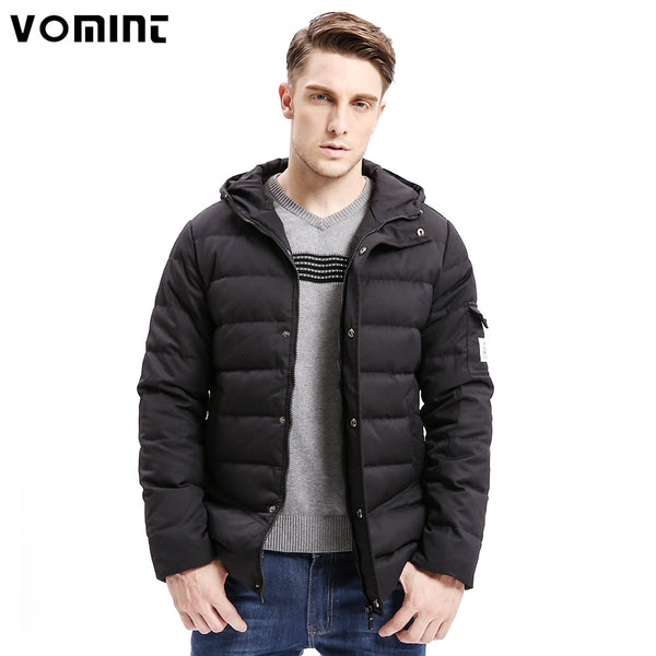 New Men Down Coat Heavy-weight Long Length Sleeve Pocket Solid Color Regular Fit 80% Down Warm Coats Male O6VI9079