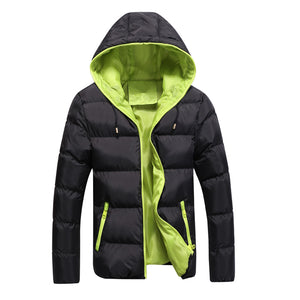 Winter Jacket Men Casual New Hooded Thick Padded Jacket Zipper Slim Men And Women Coats Men Parkas Outwear Warm Coat