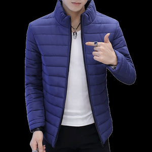 Brand Casual New Solid Color Simple Mens Jackets And Coats Thick Parka Men Outwear 4XL