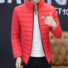 Load image into Gallery viewer, Brand Casual New Solid Color Simple Mens Jackets And Coats Thick Parka Men Outwear 4XL