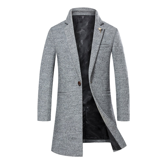 Winter Men Wool Trench Coat Men Trench Slim Fit Overcoat High Quality 2017 New  Men Coats Fashion Trench Outerwear