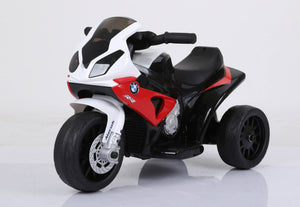 Brand New Licensed BMW S1000 RR Three Wheel Motorcycle Child Ride On Toy with Leather Seat, Music, Lights