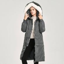 Load image into Gallery viewer, Women Winter Jacket 2017 New Fur Collar long hooded coat parka Women Thickening Super Warm Padded Coats Winter Jacket