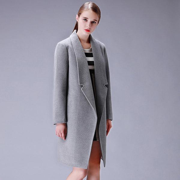 Design Winter Coat Women Warm Cotton-padded Wool Coat Long Women's Cashmere Coat European Fashion Jacket Outwear