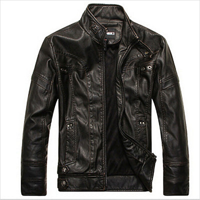 Motorcycle Leather Jackets Men Autumn Winter Leather Clothing Men Leather Jackets Male Business casual Coats