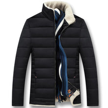 Load image into Gallery viewer, Men Winter Cotton Padded Thick Jackets Coats Jaqueta Masculina Male Casual Fashion Slim Fitted Zipper Jackets Men