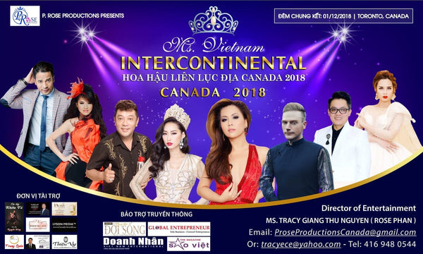 Ms. Vietnam intercontinental Canada 2018 ( Registration )