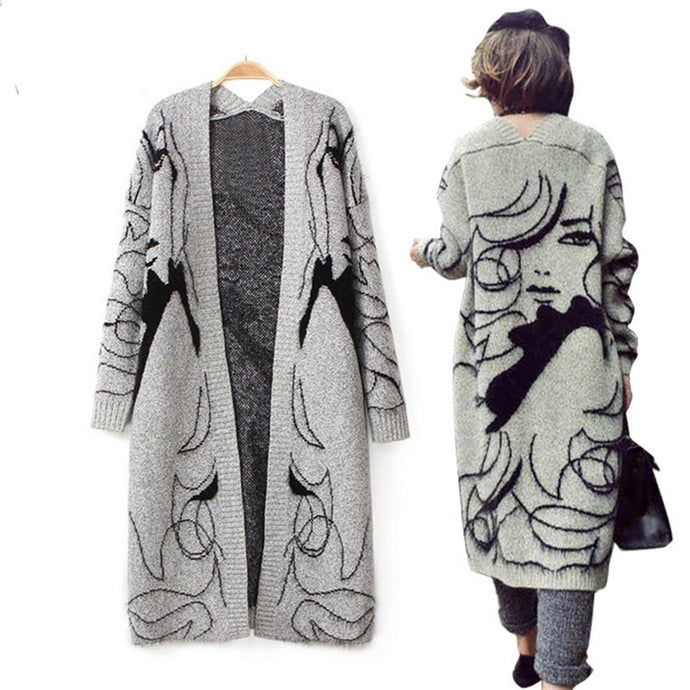long gray cardigan - The Lax Boutique